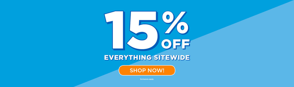 Primary Slider - Sitewide Sale: 15% off everything
